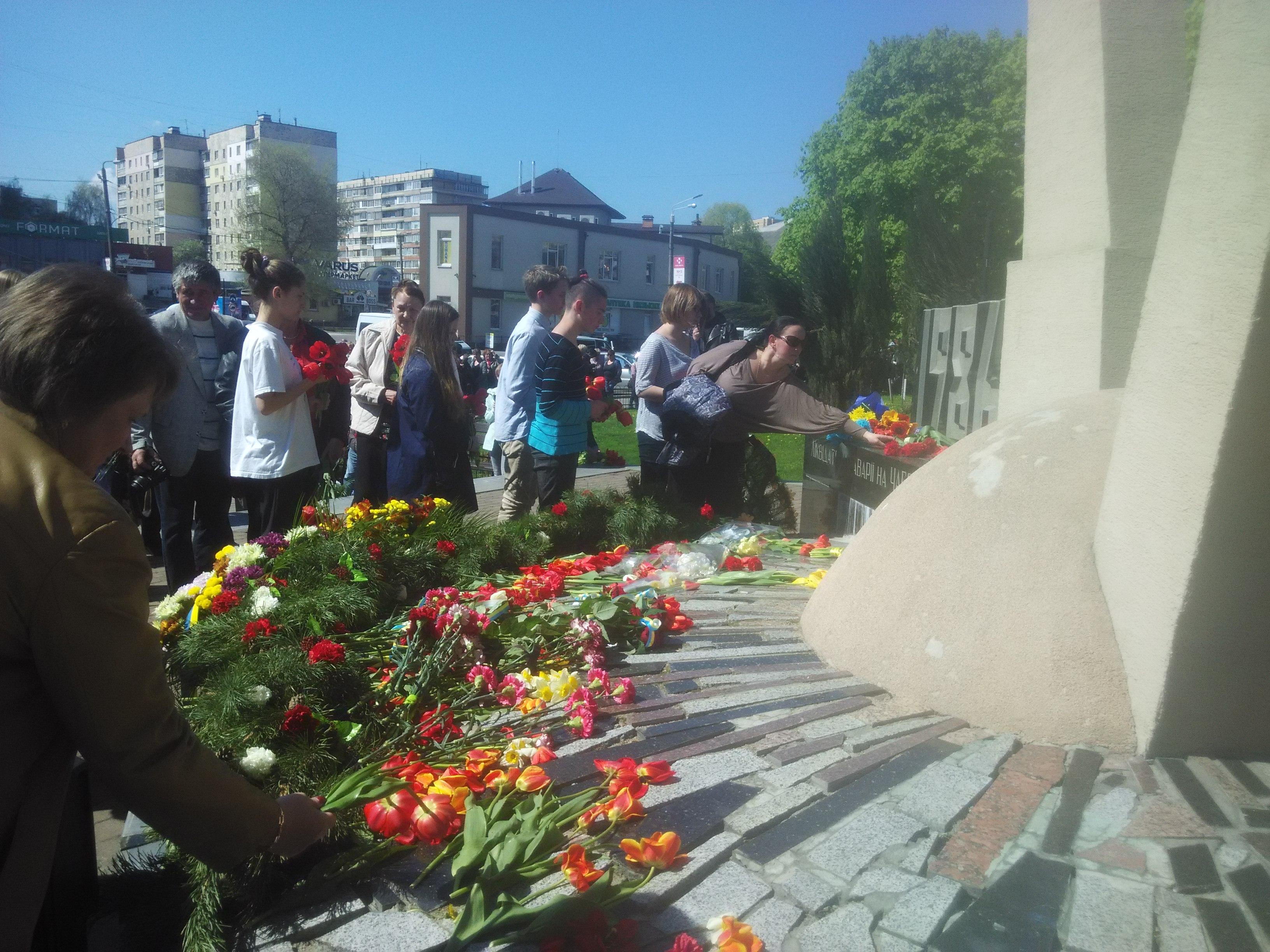 444 Вишгородці вшанували день, коли вогонь Чорнобиля опалив землю і душі мільйонів людей