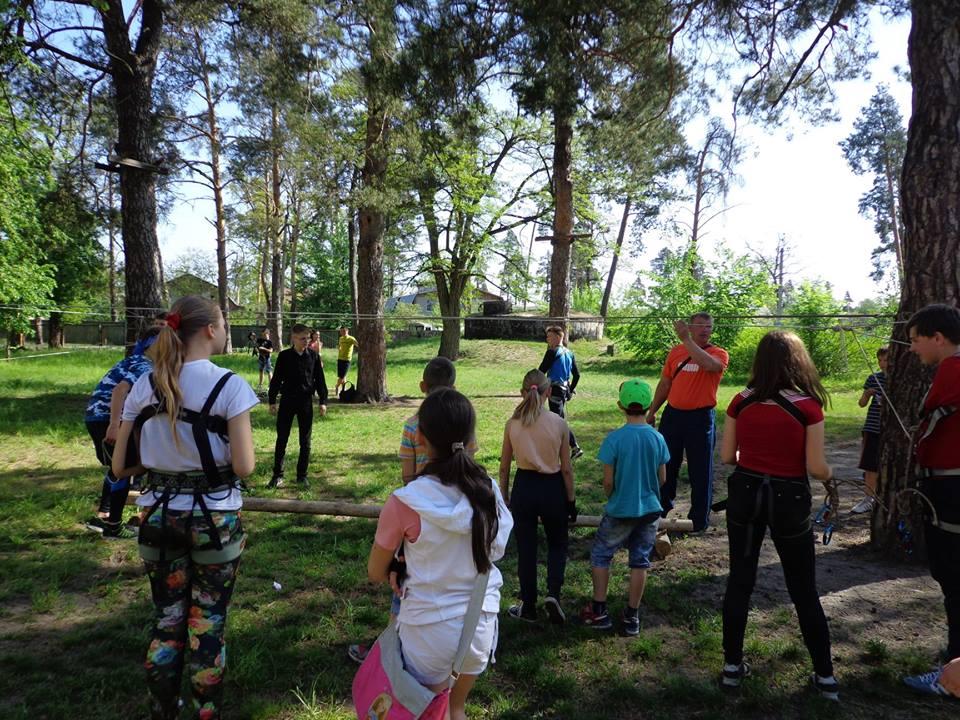 0705_turyst_2 Школярі Бородянщини готуються до змагань з техніки пішохідного туризму