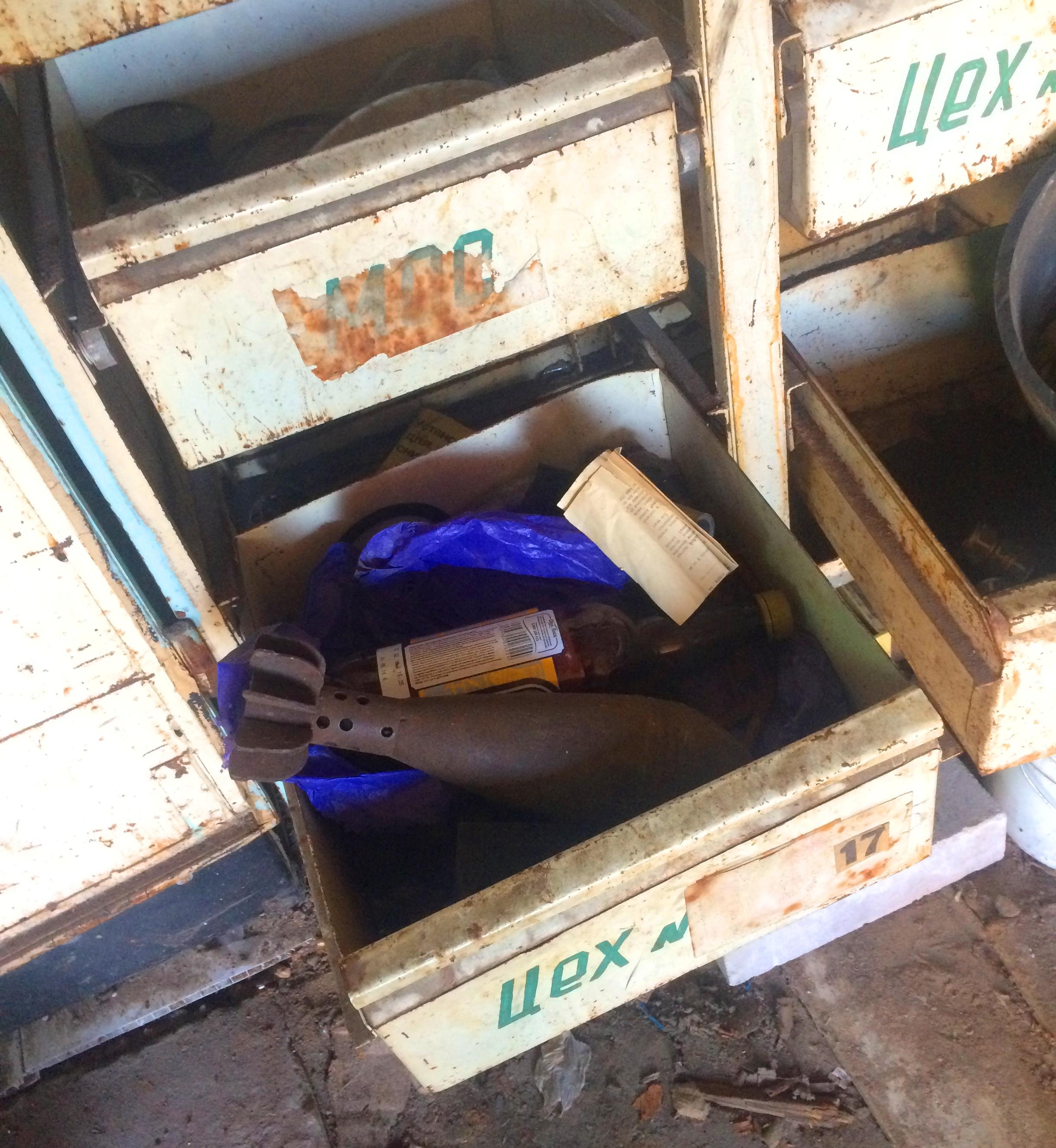 1105_mina В гаражному приміщенні на Бородянщині знайшли мінометну міну