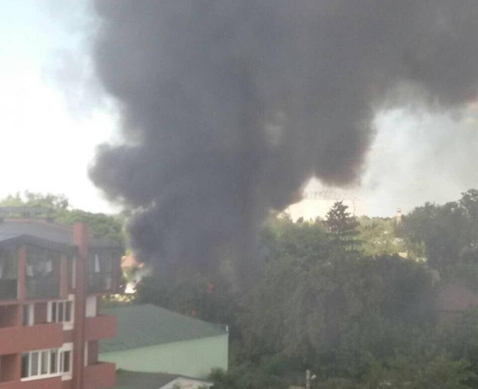 Пожежа у Гостомелі