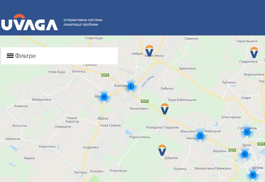 2060_problemy Проблемні місця Бородянського району: на Київщині запрацювала інтерактивна мапа для вирішення локальних проблем