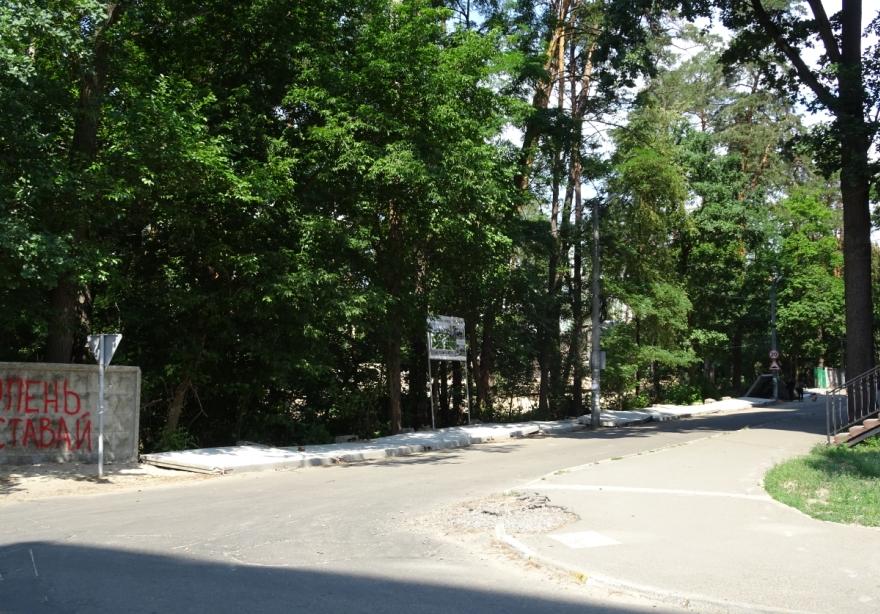 В Ірпені під натиском народного гніву рухнув паркан, яким забудовник обгородив територію ДСО, щоб звести чергову висотку