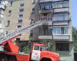 У Гостомелі через людську необережність горів балкон