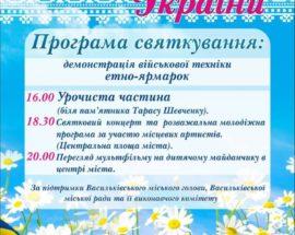Техніка, етно-ярмарок та розваги у Василькові до Дня Незалежності