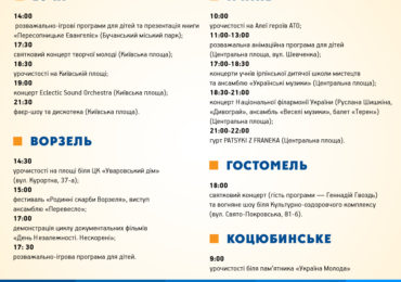 День Незалежності Буча, Ірпінь, Гостомель, Ворзель, Коцюбинське