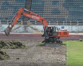 Перевірка реконструкції стадіону «Трудові резерви» у Білій Церкві