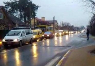 Пробки Ирпень Киев 24 сентября