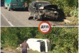 П'яний водій спричинив ДТП на Київщині (фотофакт)