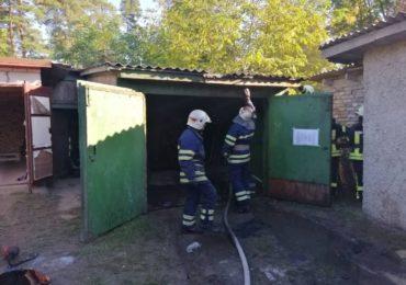 У Бучі рятувальники загасили пожежу, що сталася у приватному гаражі