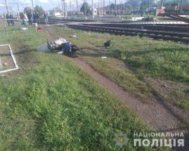 На Київщині швидкісний потяг збив жінку на мопеді