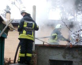 Ірпінські рятувальники оперативно загасили пожежу, що сталася в господарчій будівлі в Ірпені