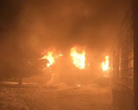 В Яготині ліквідували вечірню пожежу