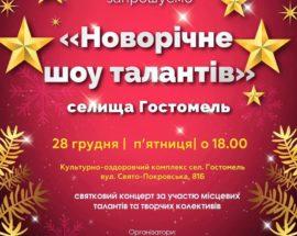 Новорічне шоу місцевих талантів у Гостомелі