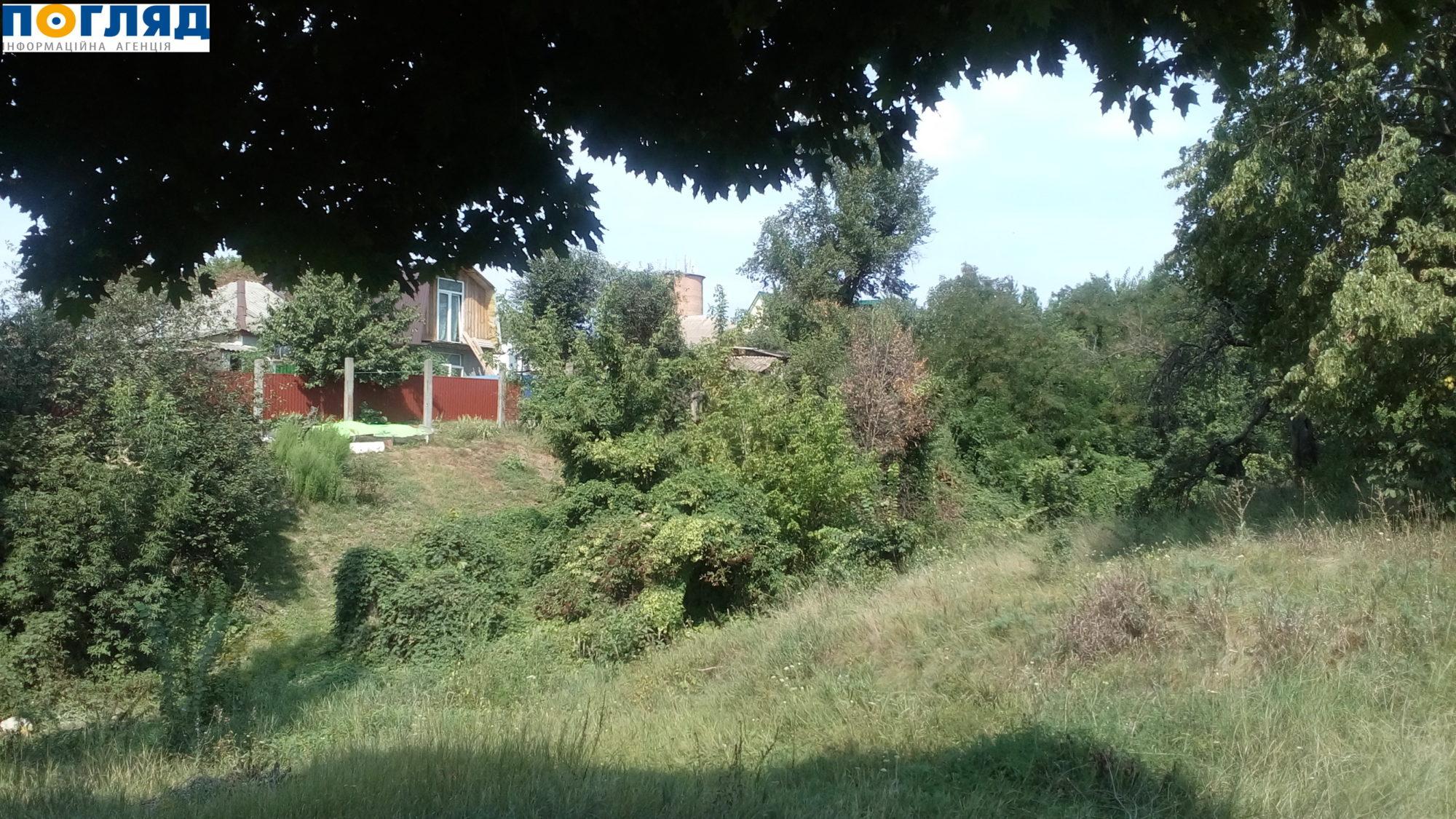 Ковалівський яр у Василькові, де були масово розстріляні євреї під час фашистської окупації