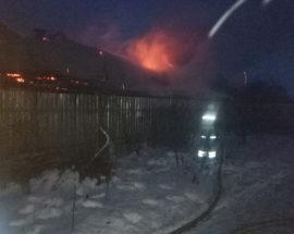 В Бориспільському районі рятувальники ліквідували загорання господарчої будівлі