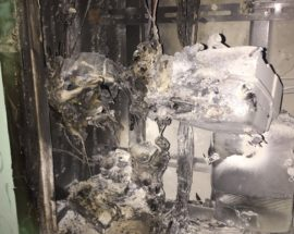 У Білій Церкві у під'їзді багатоповерхівки загорівся електролічильник