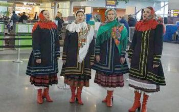 """Творчі колективи міста Бориспіль одночасно виконали Гімн України в аеропорту """"Бориспіль"""" - Чубинський, флешмоб, Бориспіль - 50815776 2423509264389483 3973152405897347072 n 350x219"""