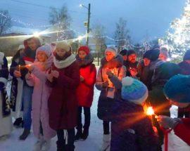 Жителі гостомельських новобудов долучилися до колективного святкування Різдва Христового