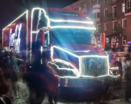 Новорічна вантажівка із подарунками зупинялася у Білій Церкві