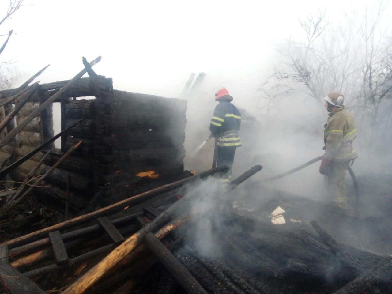 В Іванківському районі вогнем вщент знищено житловий будинок