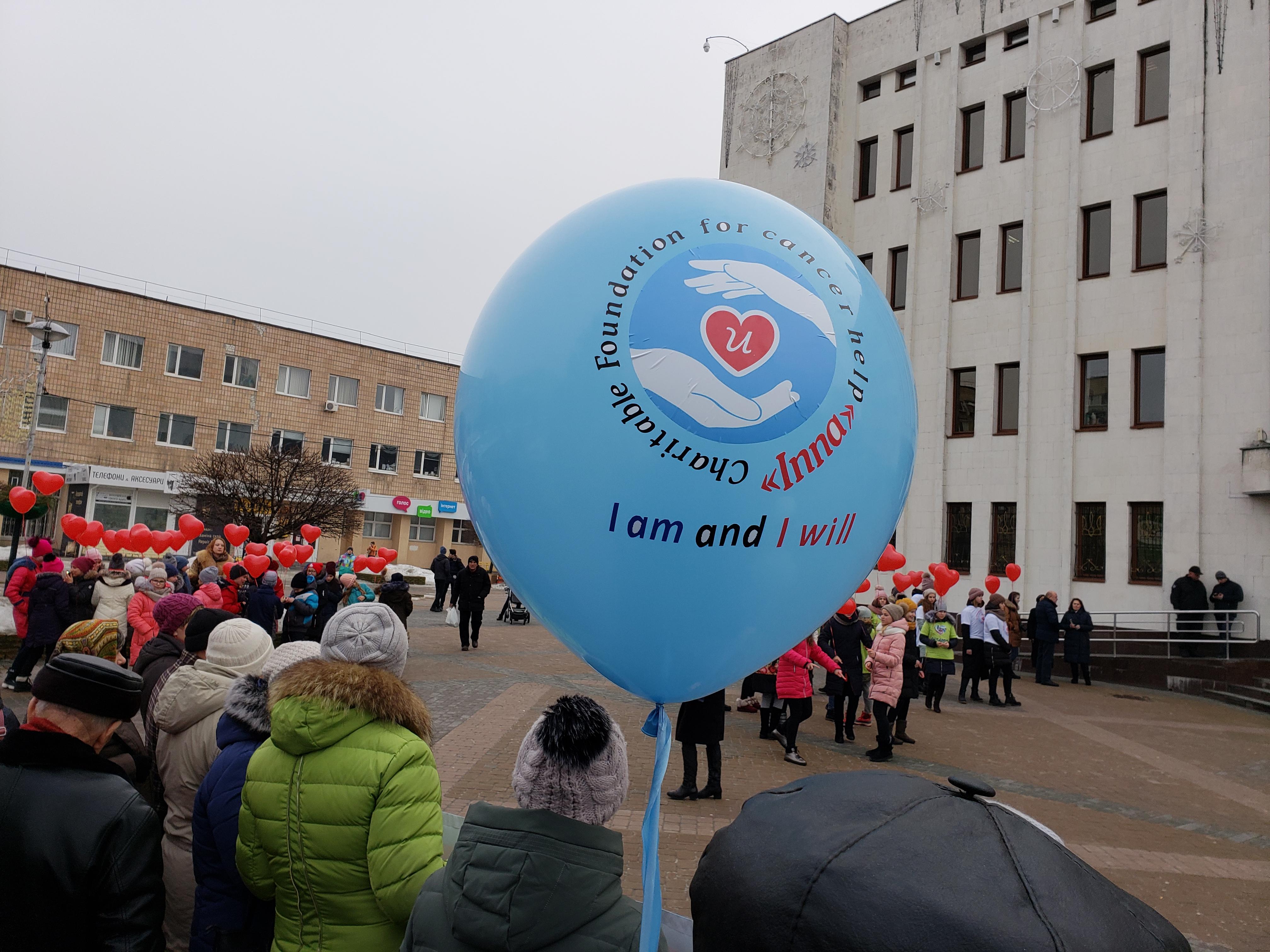 """""""Я є і я буду!"""" - флешмоб у Броварах до дня боротьби проти раку"""