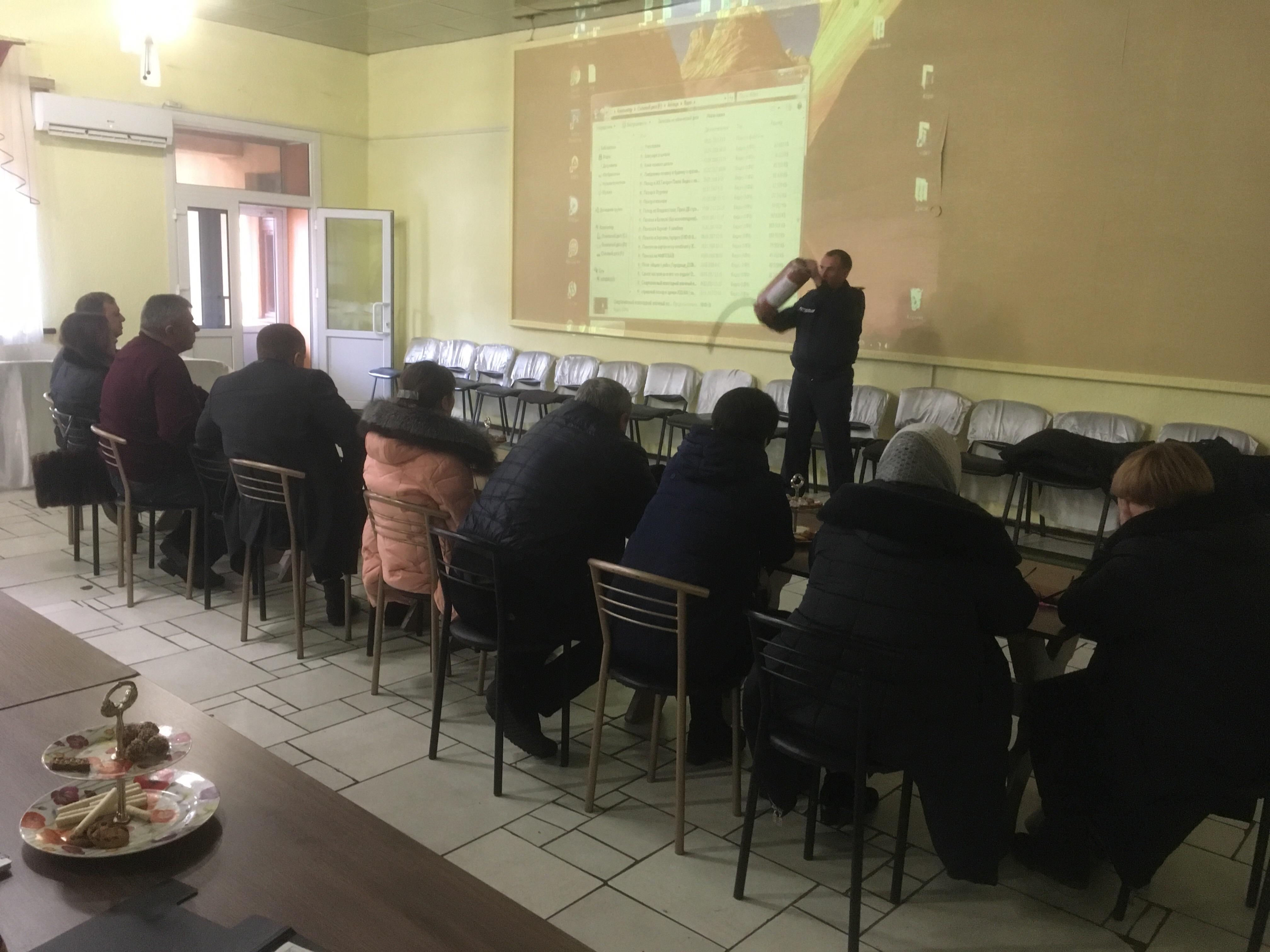 На Миронівщині рятувальники провели зустріч з керівниками суб`єктів господарювання
