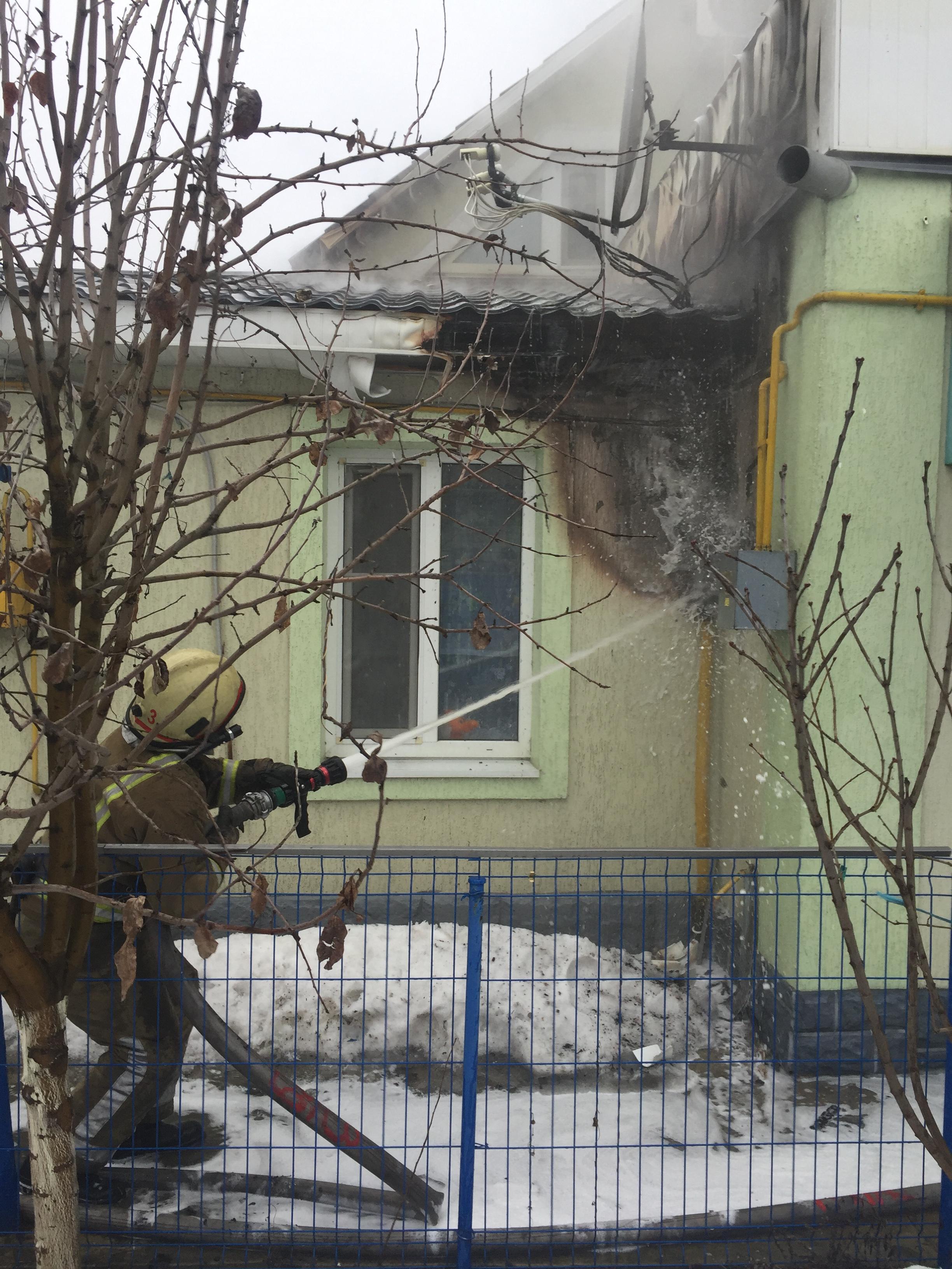 У Білій Церкві загорівся житловий будинок