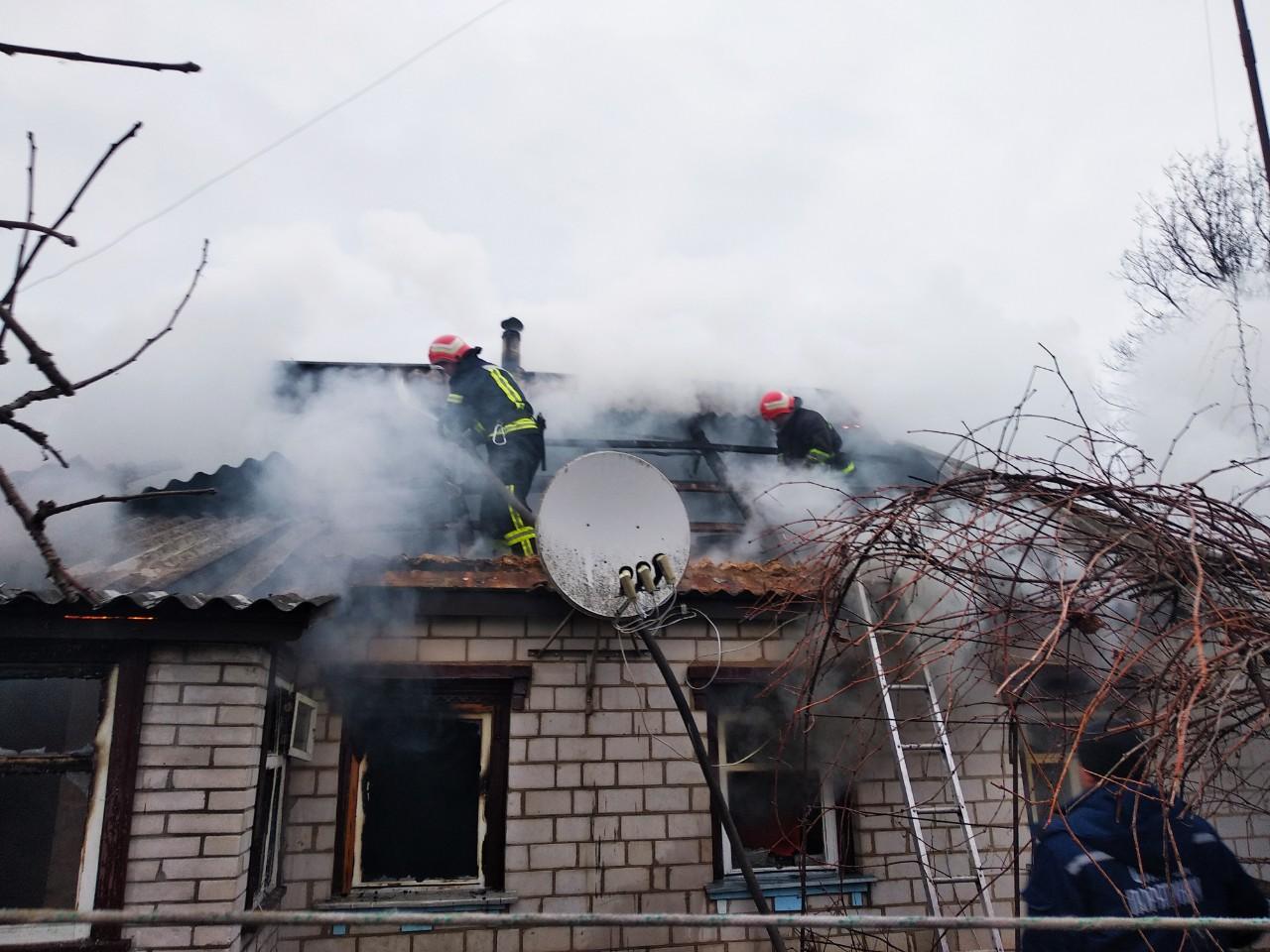 На Богуславщині вогнеборці ліквідували пожежу в житловому будинку