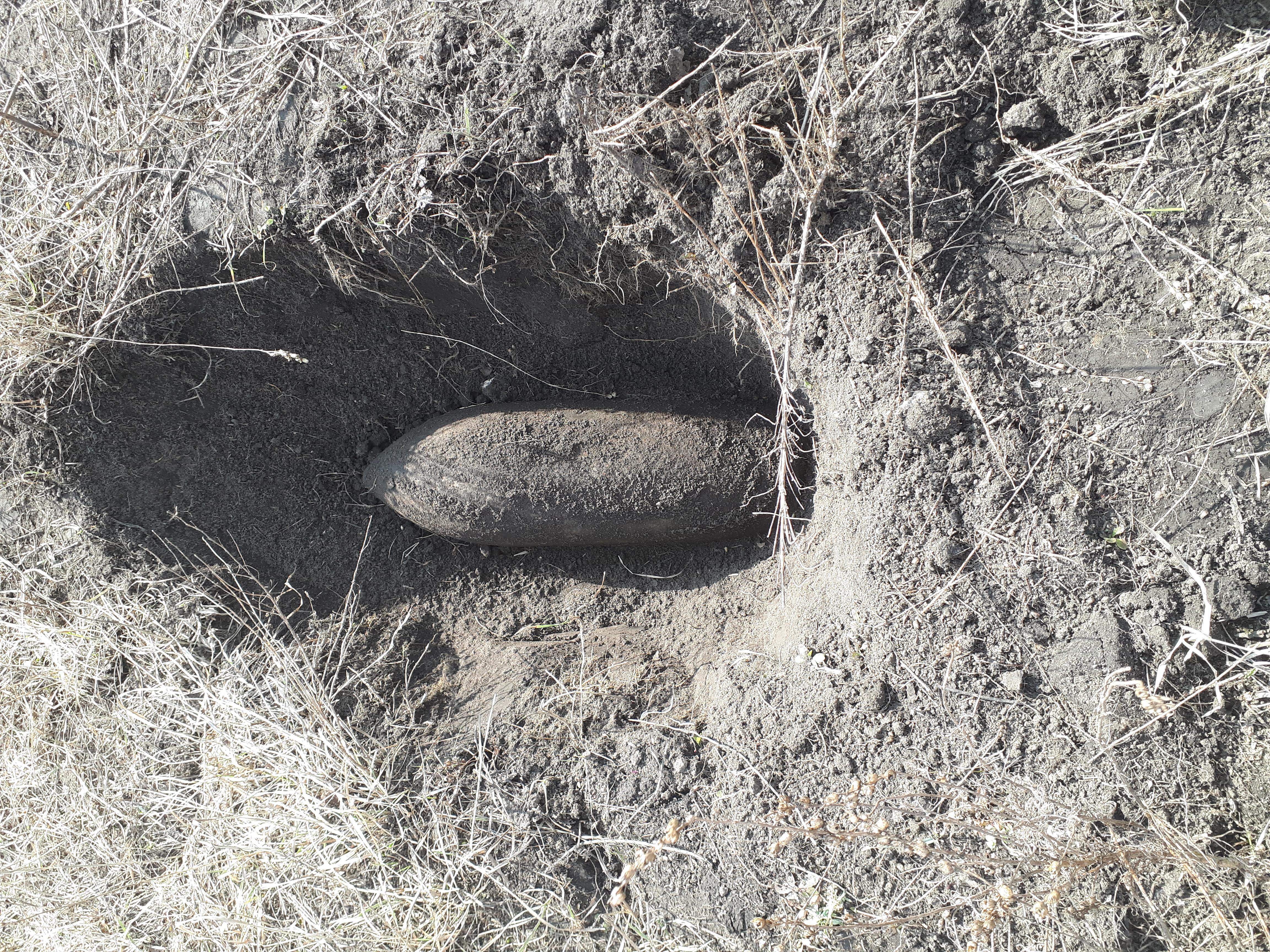 В Узині на Білоцерківщині виявили авіаційну фугасну бомбу
