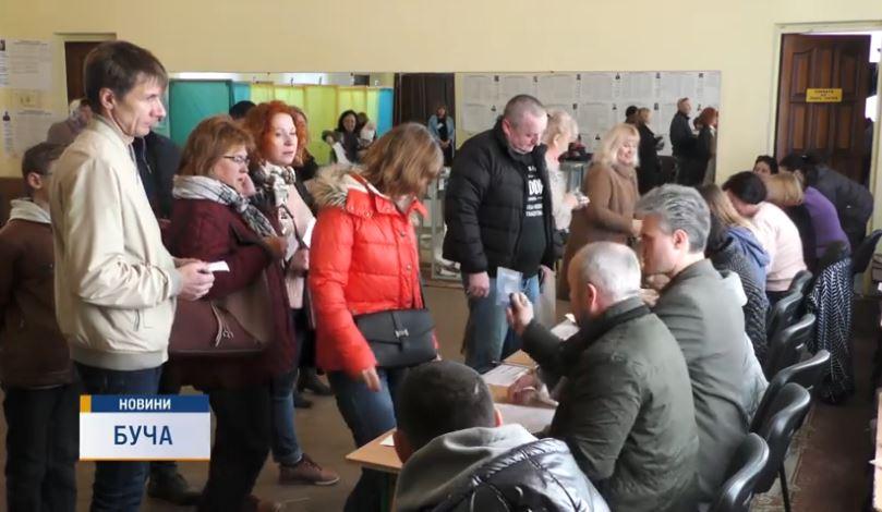 Vib-Preza-Bucha Буча та Ірпінь б'ють виборчі рекорди: фіксується висока явка на дільниці