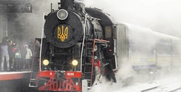 В Києві курсуватиме святковий ретро-потяг