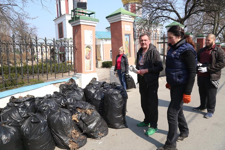 Сьогодні у Вишгороді відбулась екологічна акція - прибирання, київщина, Екологічна акція, Вишгород - 0406 Vyshgorod VIKZ prybyr5