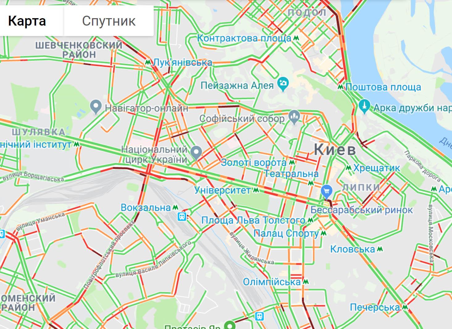 45076809 Ранкові затори на дорогах Києва - 23.04.2019