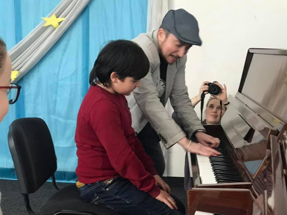 Відомий джазмен показав майстер-клас дітям із Васильківщини