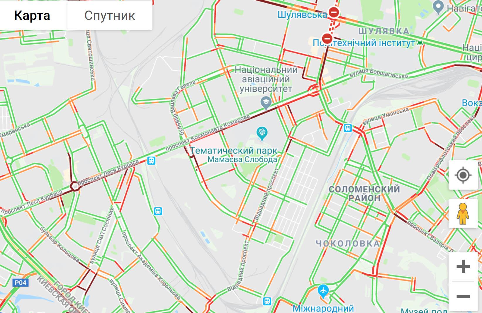 68khn Ранкові затори на дорогах Києва - 23.04.2019