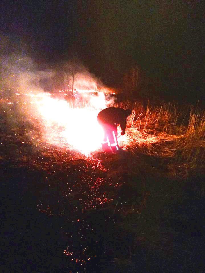 На Київщині пожежа трав'яного настилу ледь не обернулася справжньою трагедією - пожежа, Озірщина, Бородянський район - 804 pozhezha3