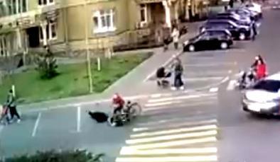 Хлопчик на велосипеді вчинив ДТП (відео) -  - Novyj rysunok 27