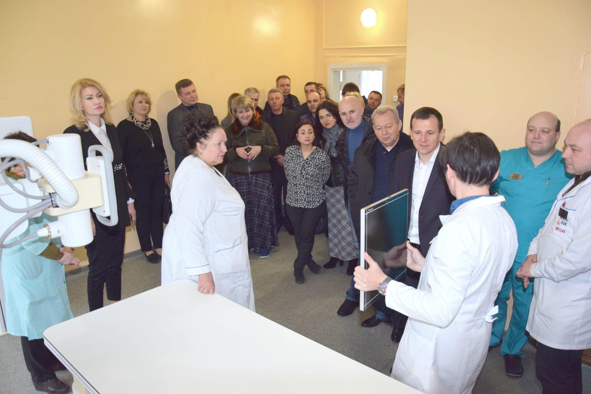 У Васильківській лікарні запущено нову рентгенівську систему