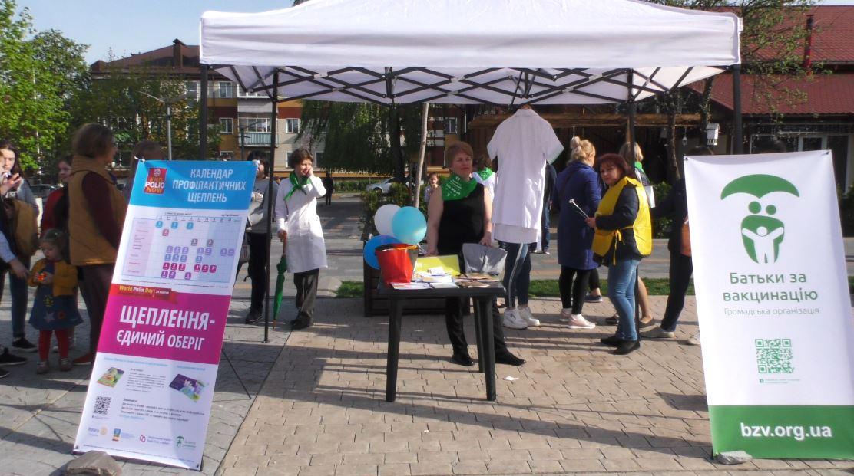 Vakzynaz-2 Вакцинація — запорука здоров'я: у Бучі пройшов веселий флешмоб
