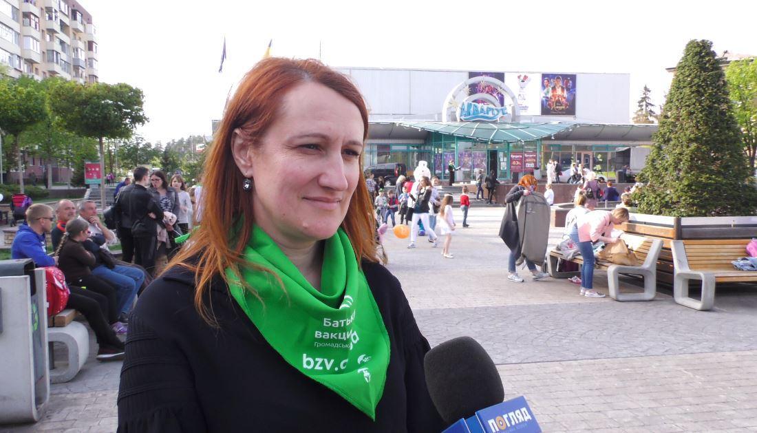 Vakzynaz-Dzam Вакцинація — запорука здоров'я: у Бучі пройшов веселий флешмоб