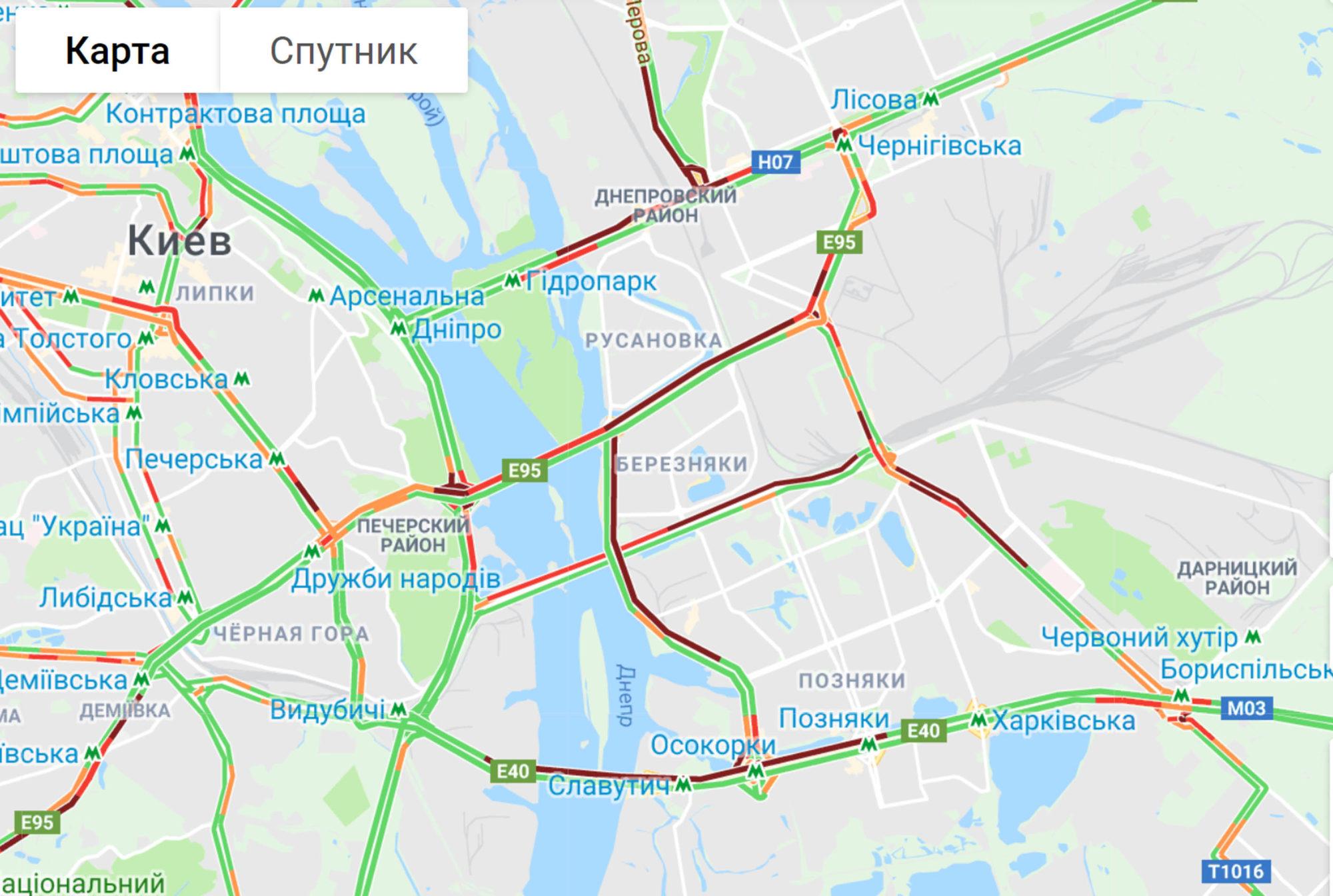 Затори в Києві -  - dkfghj 1 2000x1344