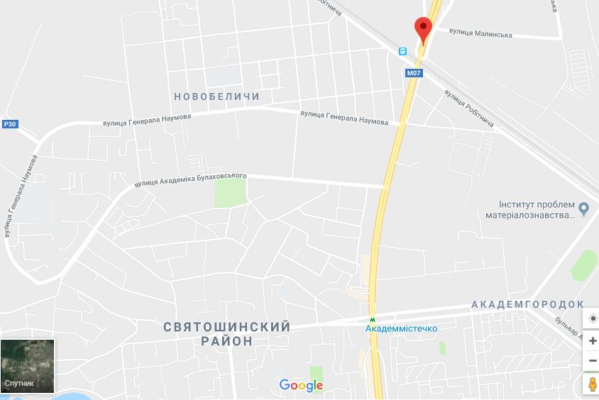 """photoeditorsdk-export """"Київавтодор"""" перекрив вулицю поблизу Кільцевої"""