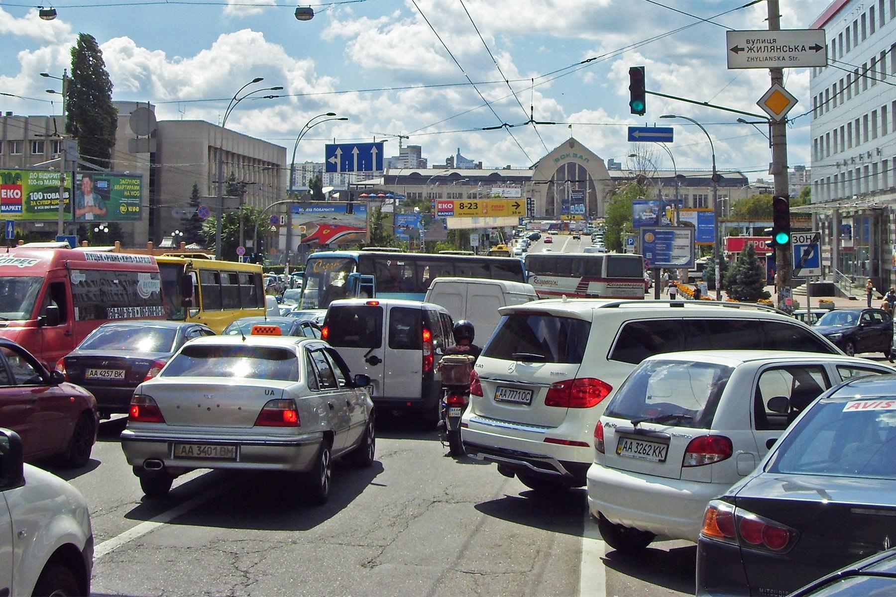 Затори в Києві -  - traffic jam