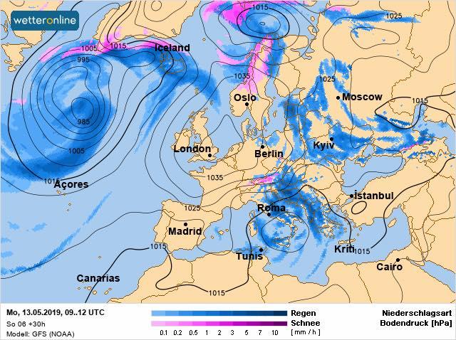 У понеділок на Київщині обіцяють сонце, дощ і навіть грозу - прогноз погоди, погода - 1305 pogoda