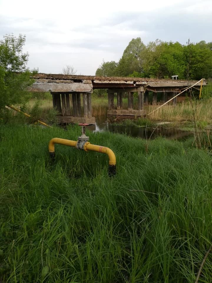 Через обвал старого мосту на Макарівщині 450 абонентів залишились без газопостачання - газопостачання, газ - 1705 gaz3