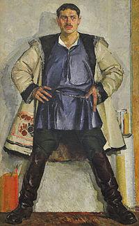 Федір Кричевський: 140 років від дня народження -  - 200px Fedir Krychevskyj   Avtoportret u bilomu kozhusi 1