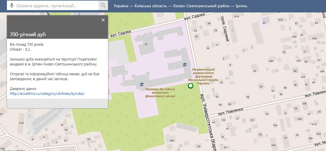 2905_karta3 Дерева-свідки історії: про що розповість мапа найстаріших дерев України