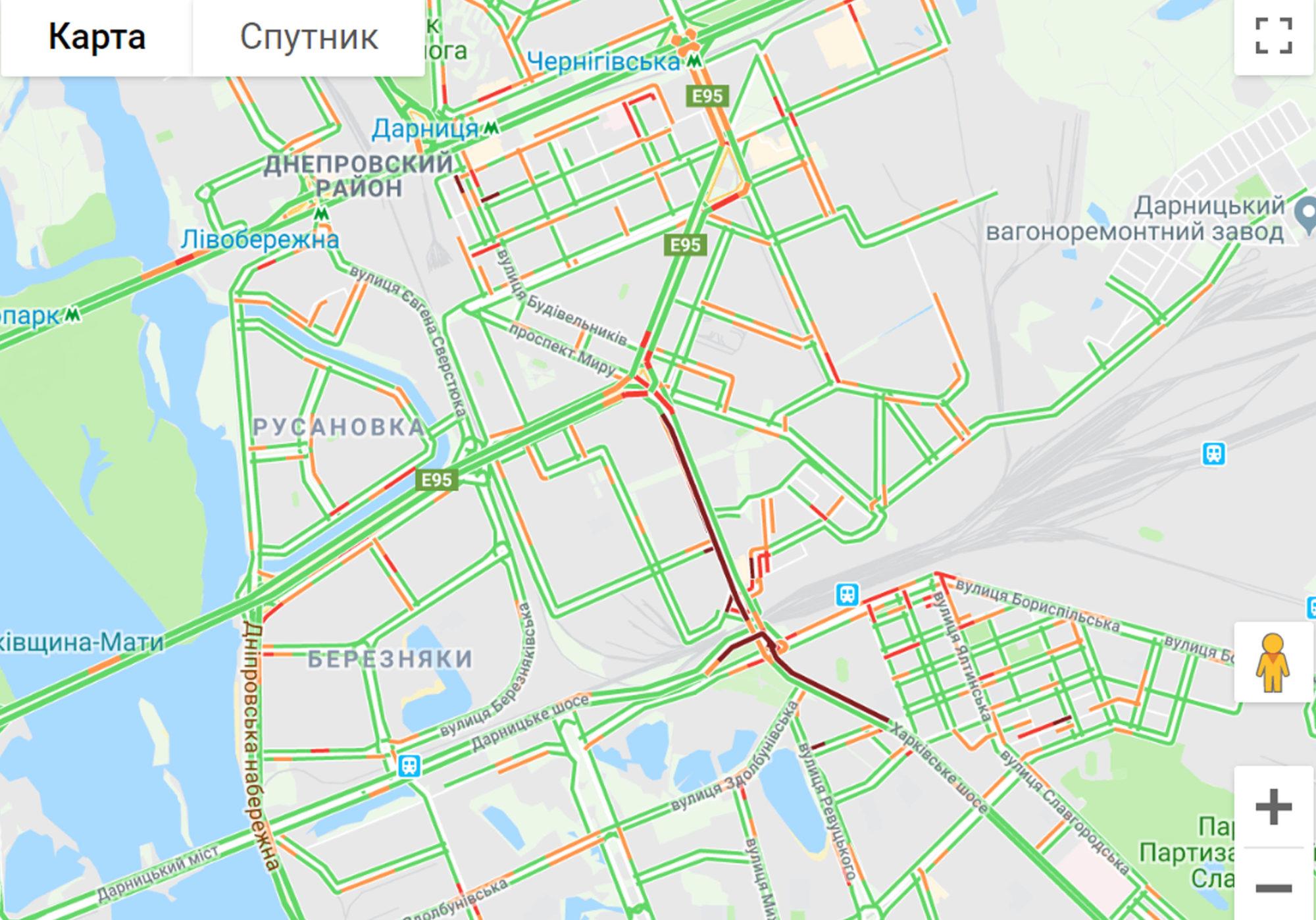 Київ майже вільний від заторів -  - 315 2000x1398