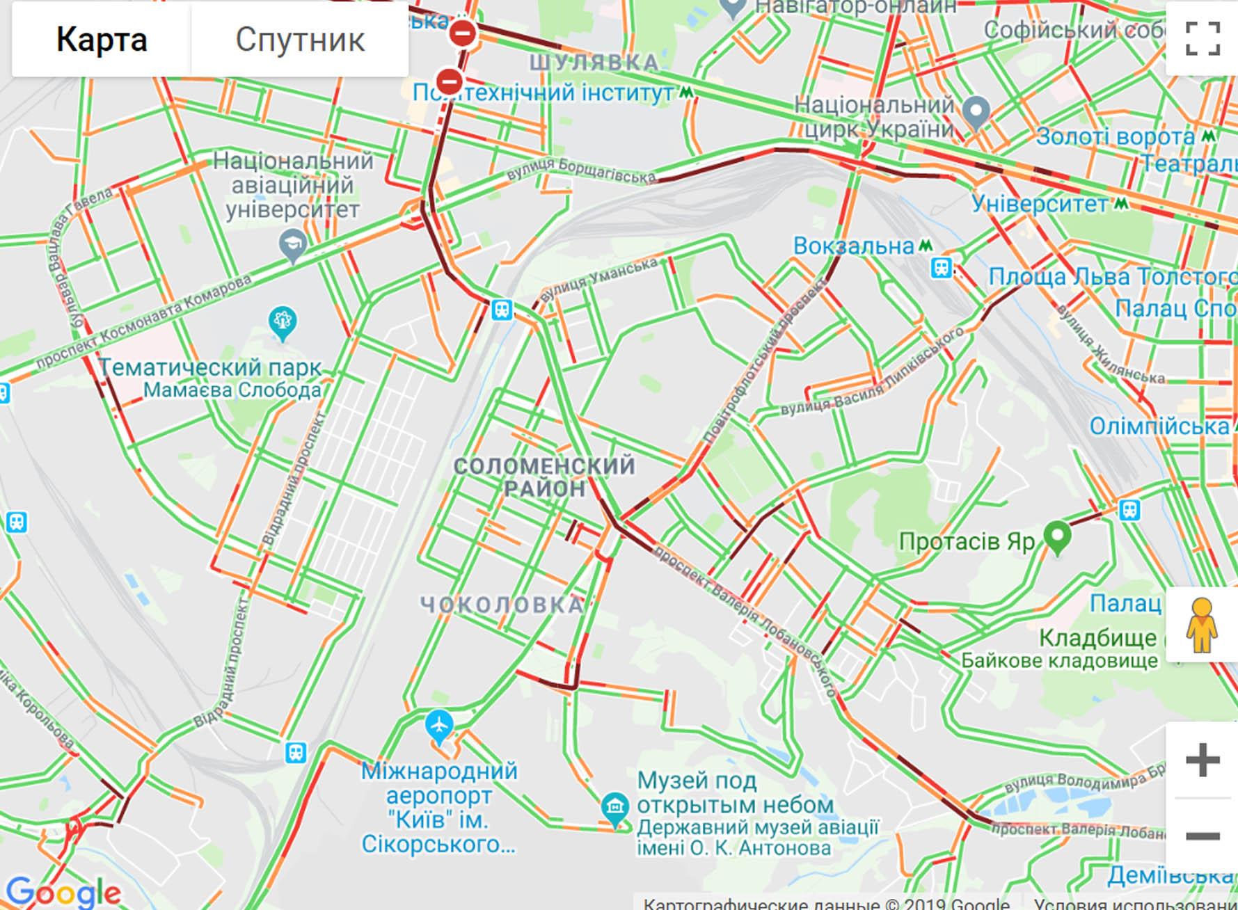 """Затори в Києві: які вулиці """"зупинилися"""" -  - 3476e"""