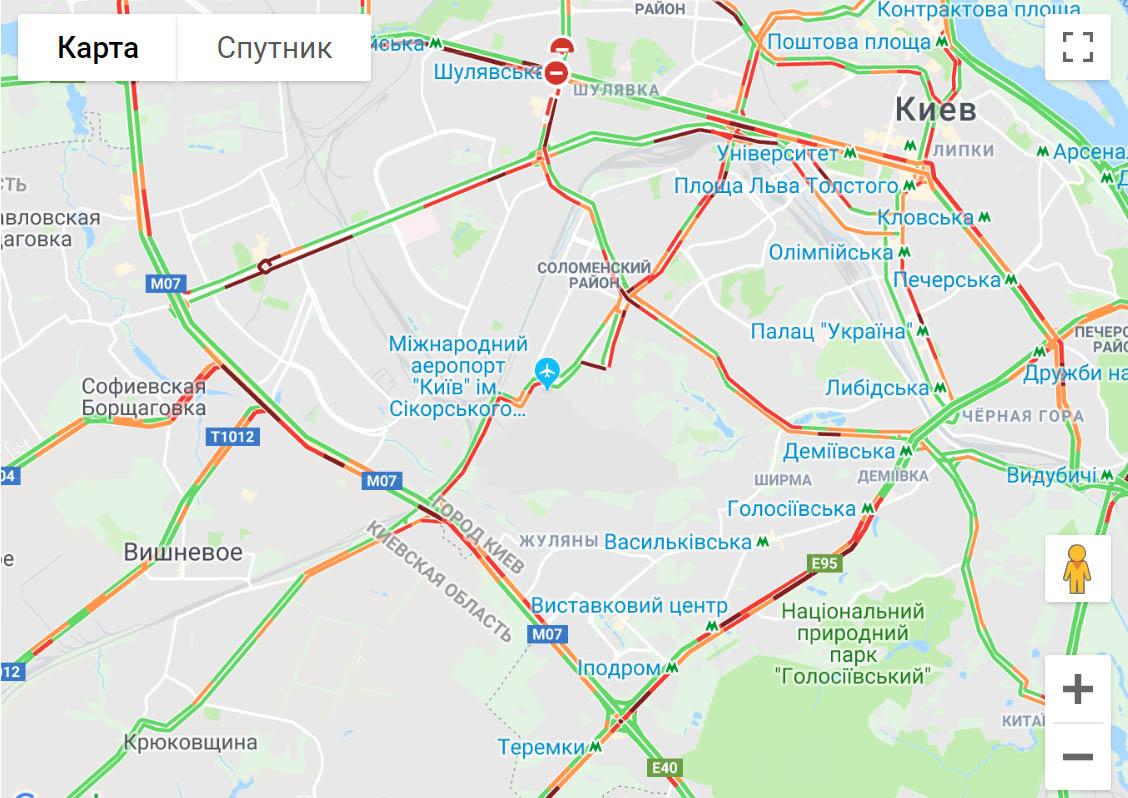 "Київ ""застряг"" у сильних заторах -  - 4567ypi"